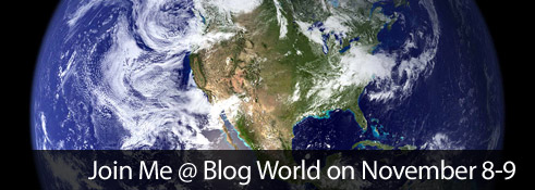 Join Me @ Blog World on November 8-9