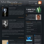 New Blog Design For My Biz Partner and UBD Designer, Matt Blancarte
