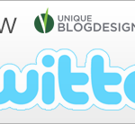 Follow Unique Blog Designs on Twitter